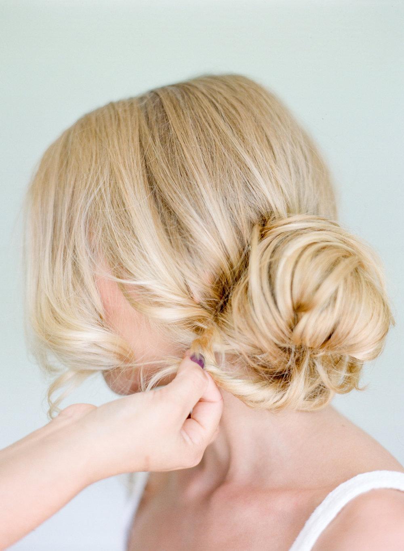 STEP FOUR | Secure bun using bobbi pins