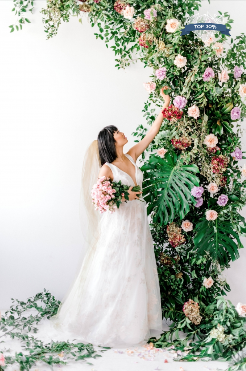AWARD: TOP 20%  (Out of 6.9k entries) |  Design & Florals: Mibellarosa, MUAH: Hey Lovely Makeup, Gown: Ivy & Foster via Unbridaled