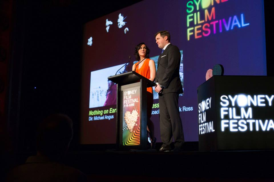 Giles Hardie and Alice Tynan present the 2013 Sydney Film Festival Awards
