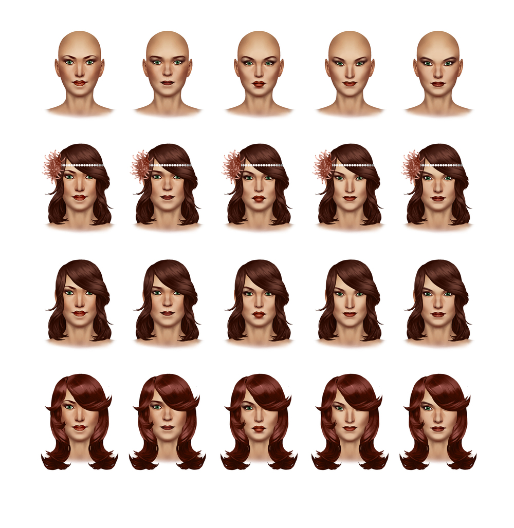 Leela Face and Hair Concepts 1