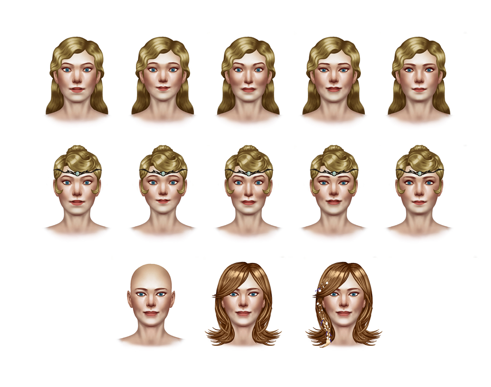 Maya Face and Hair Concepts 2