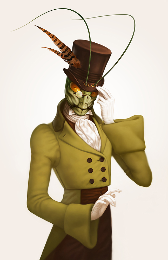 Character Illustration: Monocle Mantis