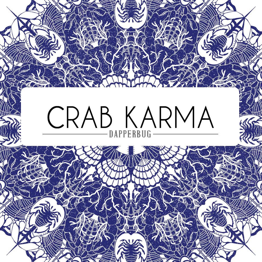 Crab Karma Mandala Design