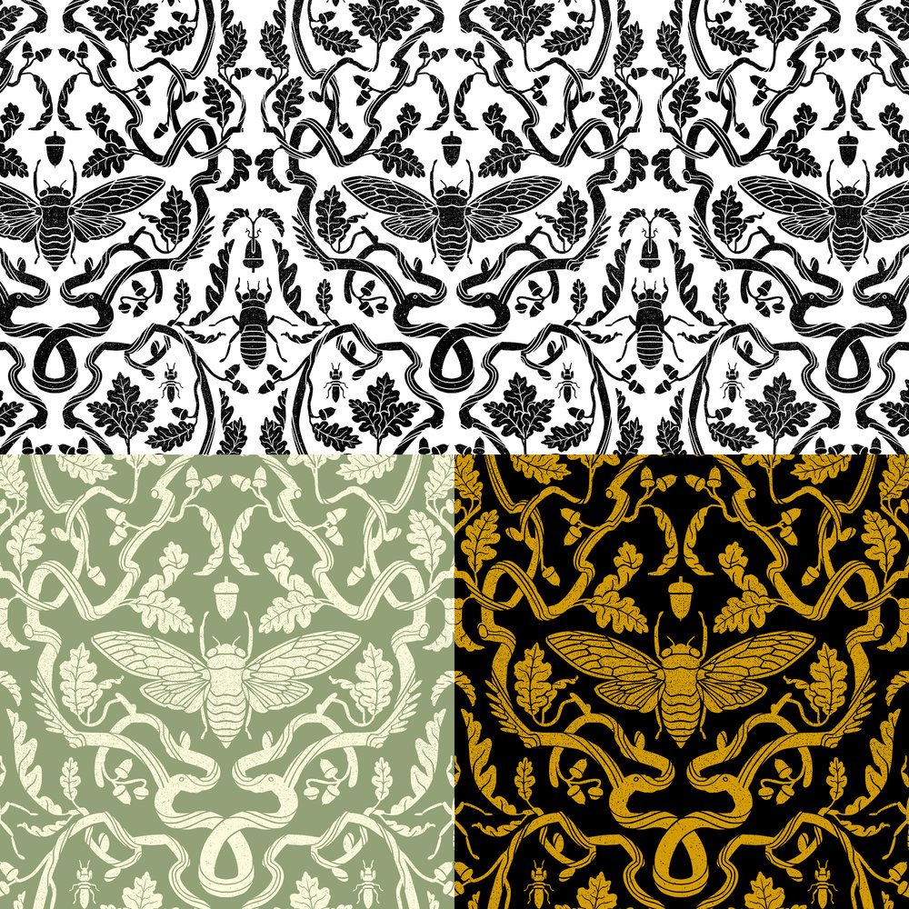 Cicada Oak Pattern Variants
