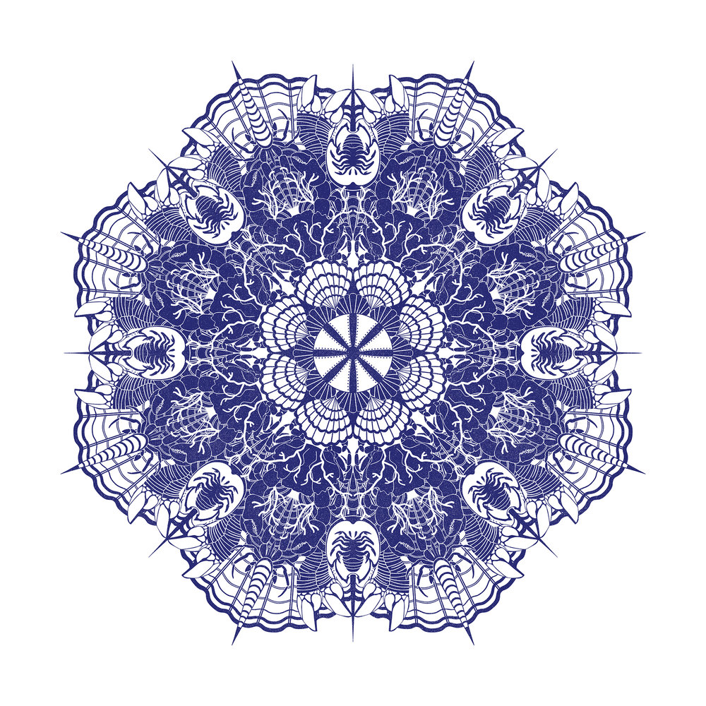 Crab Karma Mandala Design Full