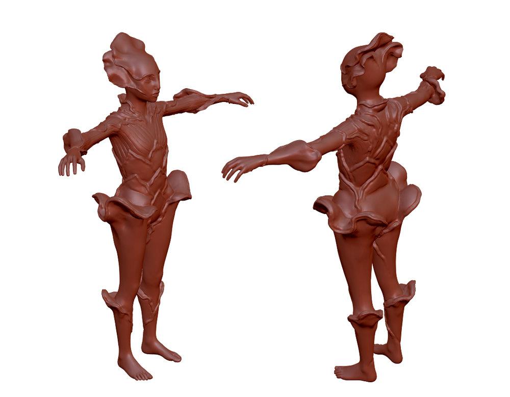 Lunar Divine Character Concept Sculpt