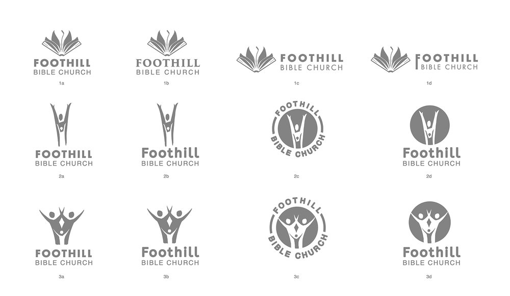 Foothill Bible Church Logo Concepts