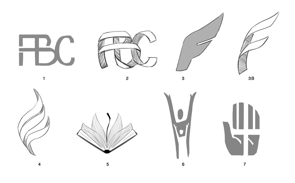 Foothill Bible Church Logo Initial Concepts