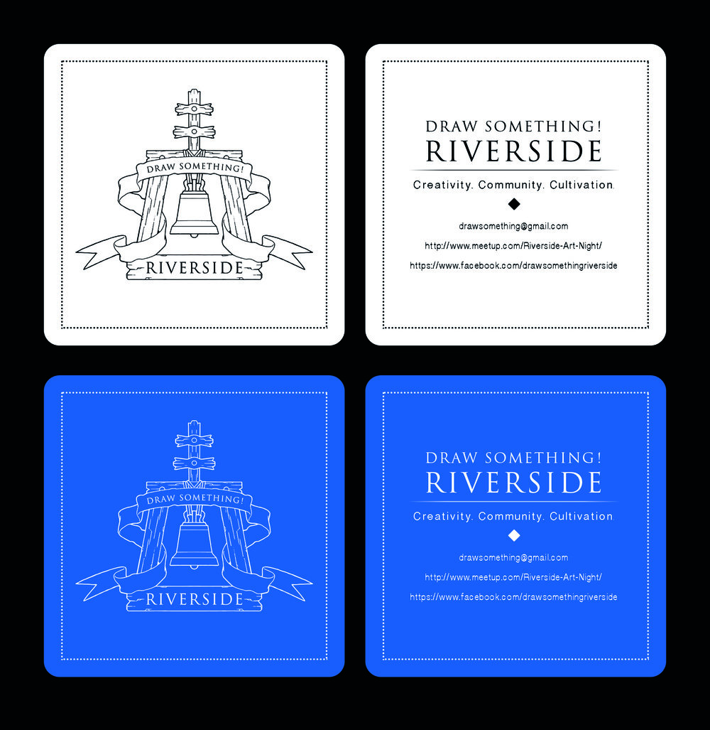 Draw Something Riverside Business Card Mockup