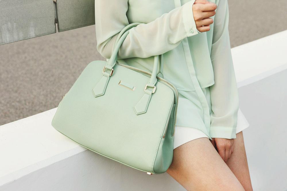 Pastel Green Zara Charles Keith 02.JPG