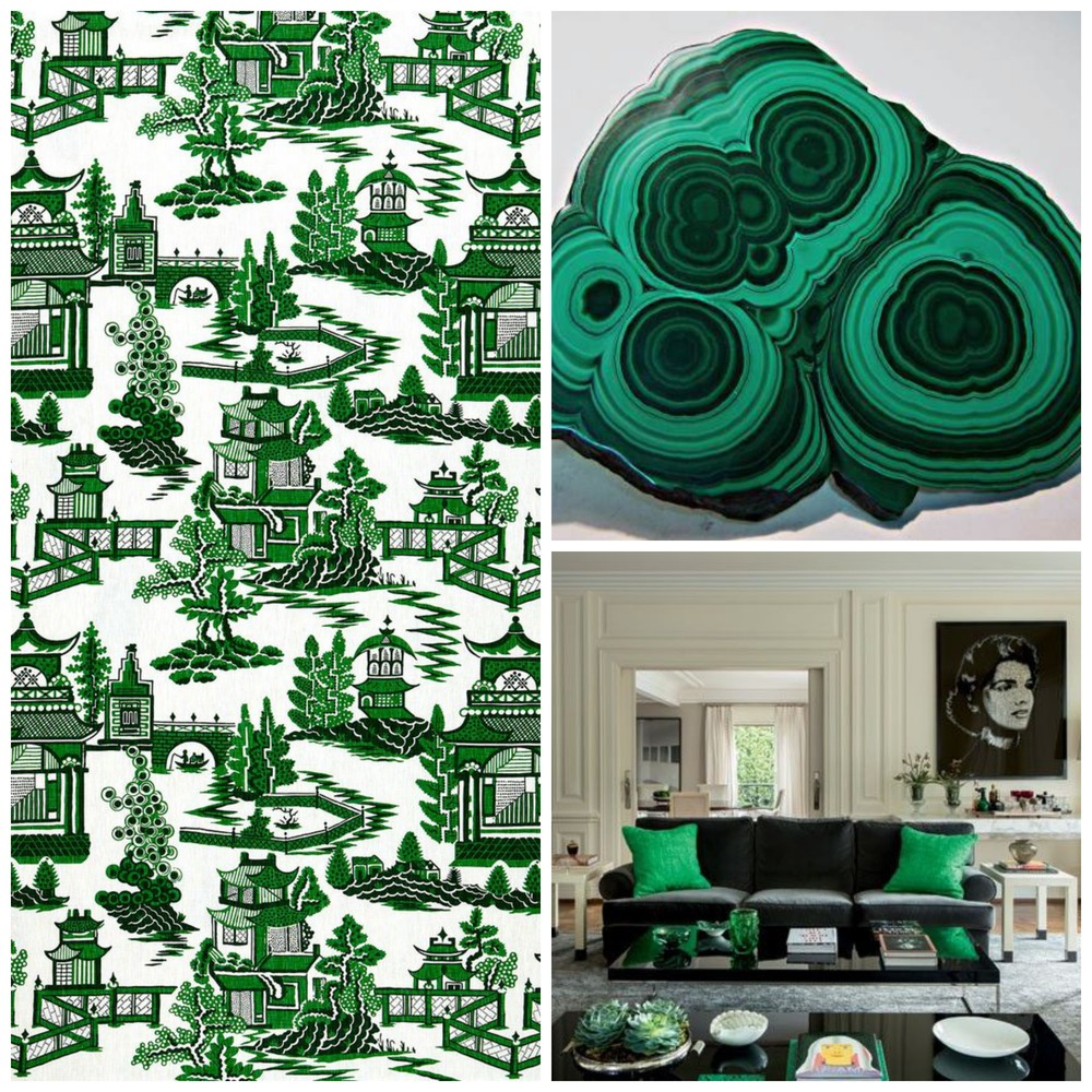 Fabric:  Schumacher /Malachite/Room Courtesy  Casa Vogue