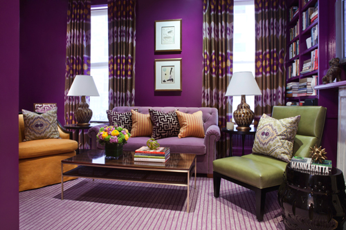 Prime example of color chutzpah! One of my favorite designers,  Amanda Nisbet , goes all-purple and it's brilliant.