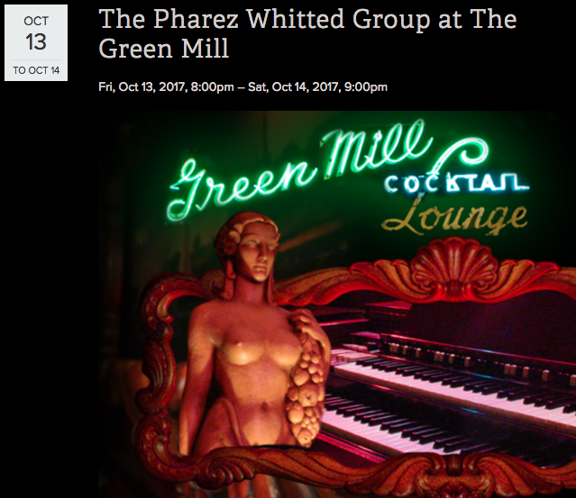 Looking for great music in Chicago this weekend? Catch The Pharez Whitted Quintet at the Green Mill this Friday and Saturday! Select the link to find out more: PHAREZ WHITTED AT THE GREEN MILL
