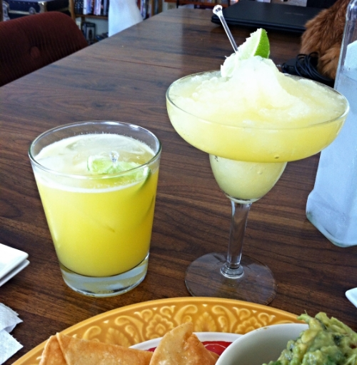 Classic Margaritas with fresh orange and lime juice and agave. Simple and delicious! From TooIntoIt.com