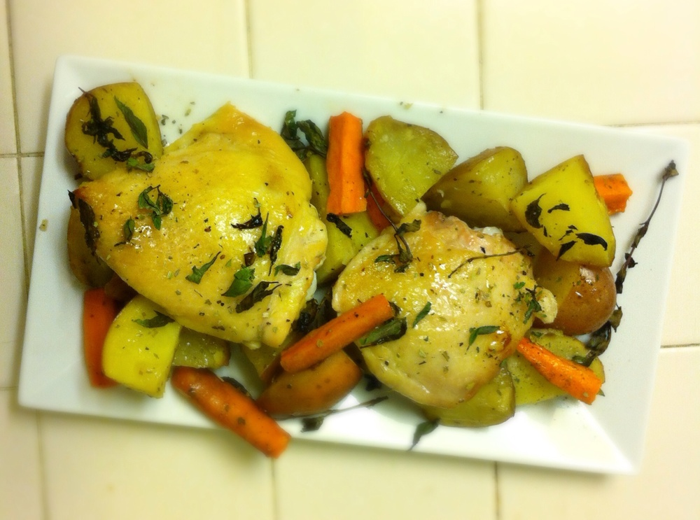 Minty Chicken and Potatoes on TooIntoIt.com