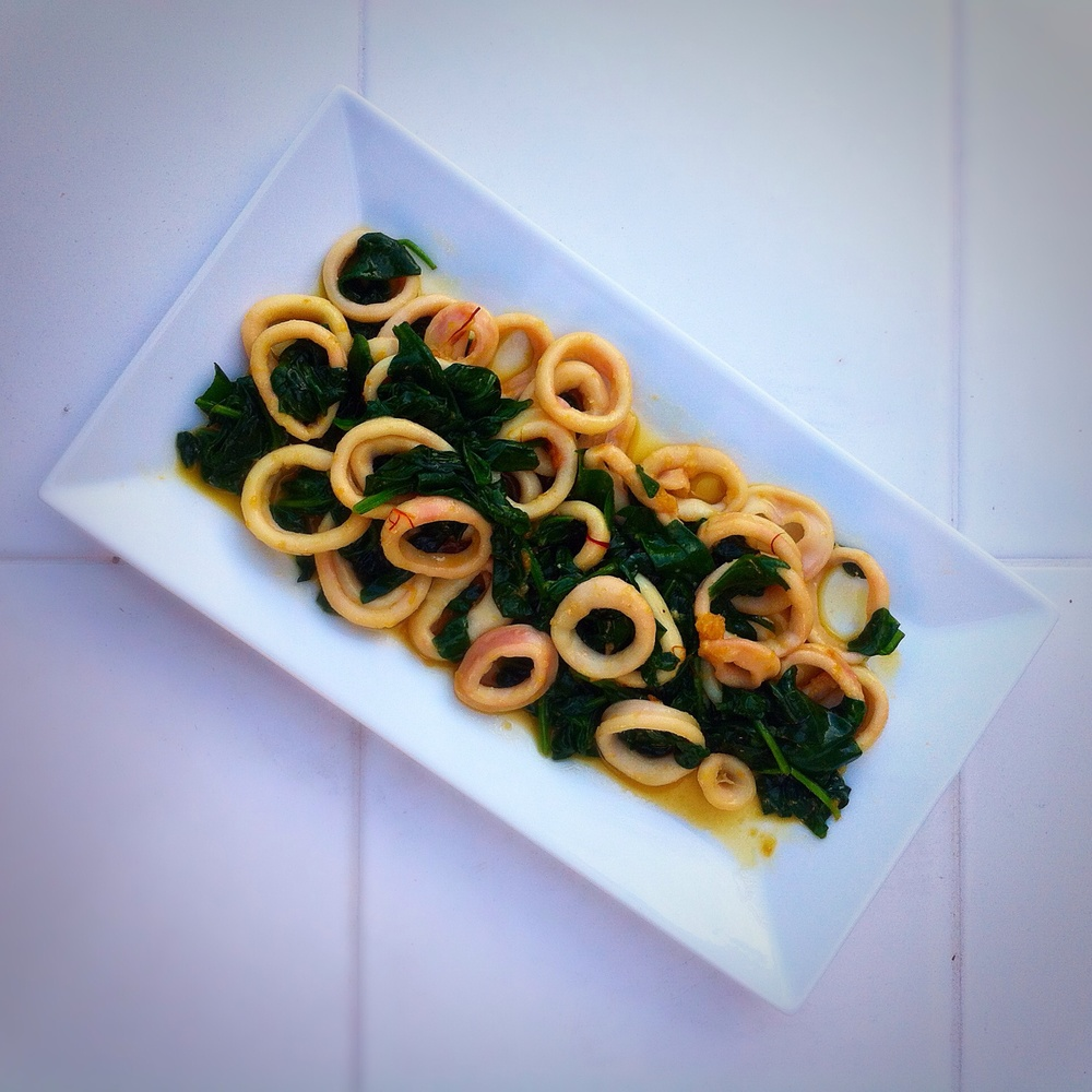 Saffron Calamari Rings for #TapasTuesday on TooIntoIt.com