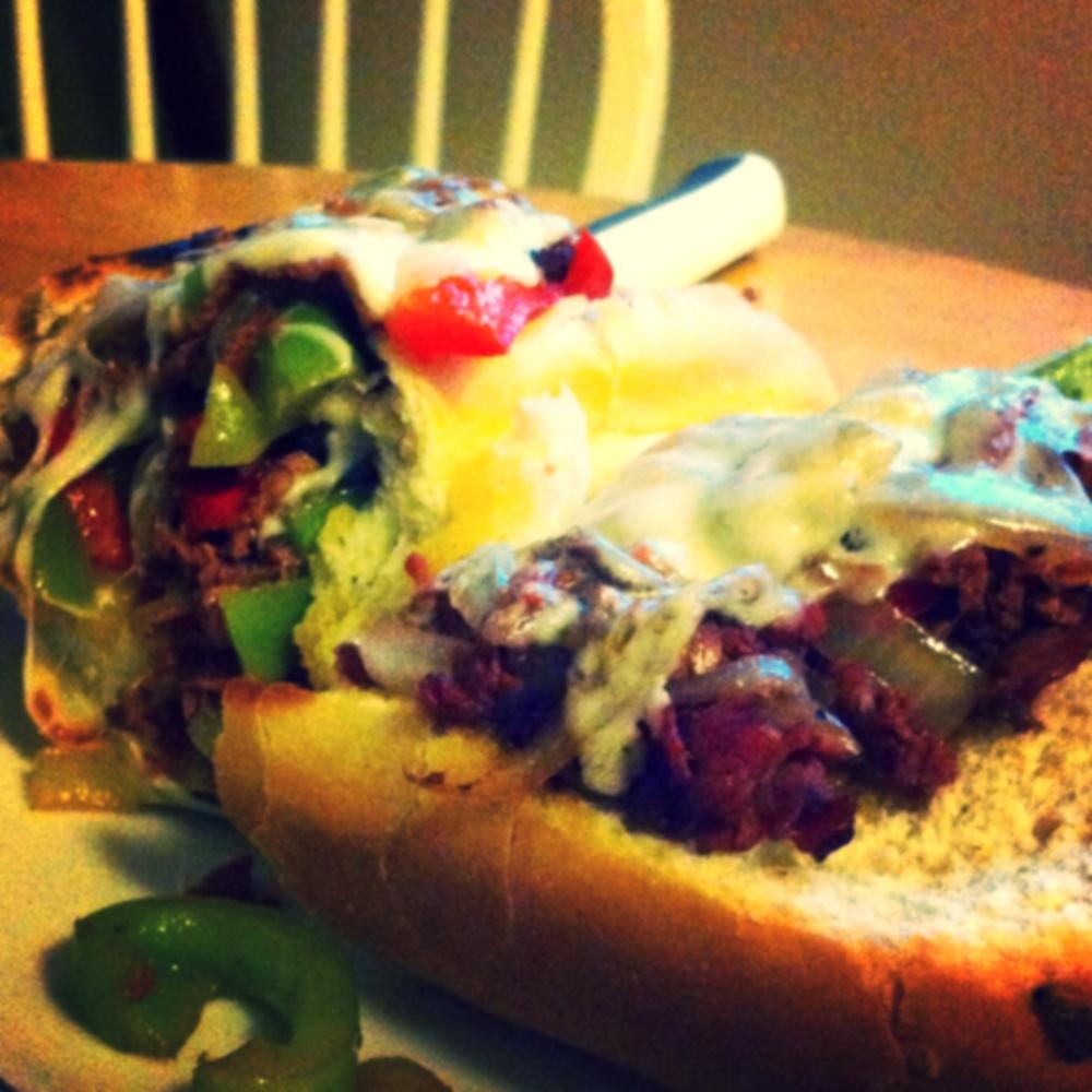Cheesesteak Sandwich for #SandwichSaturday on TOO INTO IT