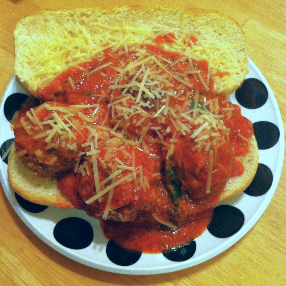 Meatball Sub Sandwich for #SandwichSaturday on TOO INTO IT