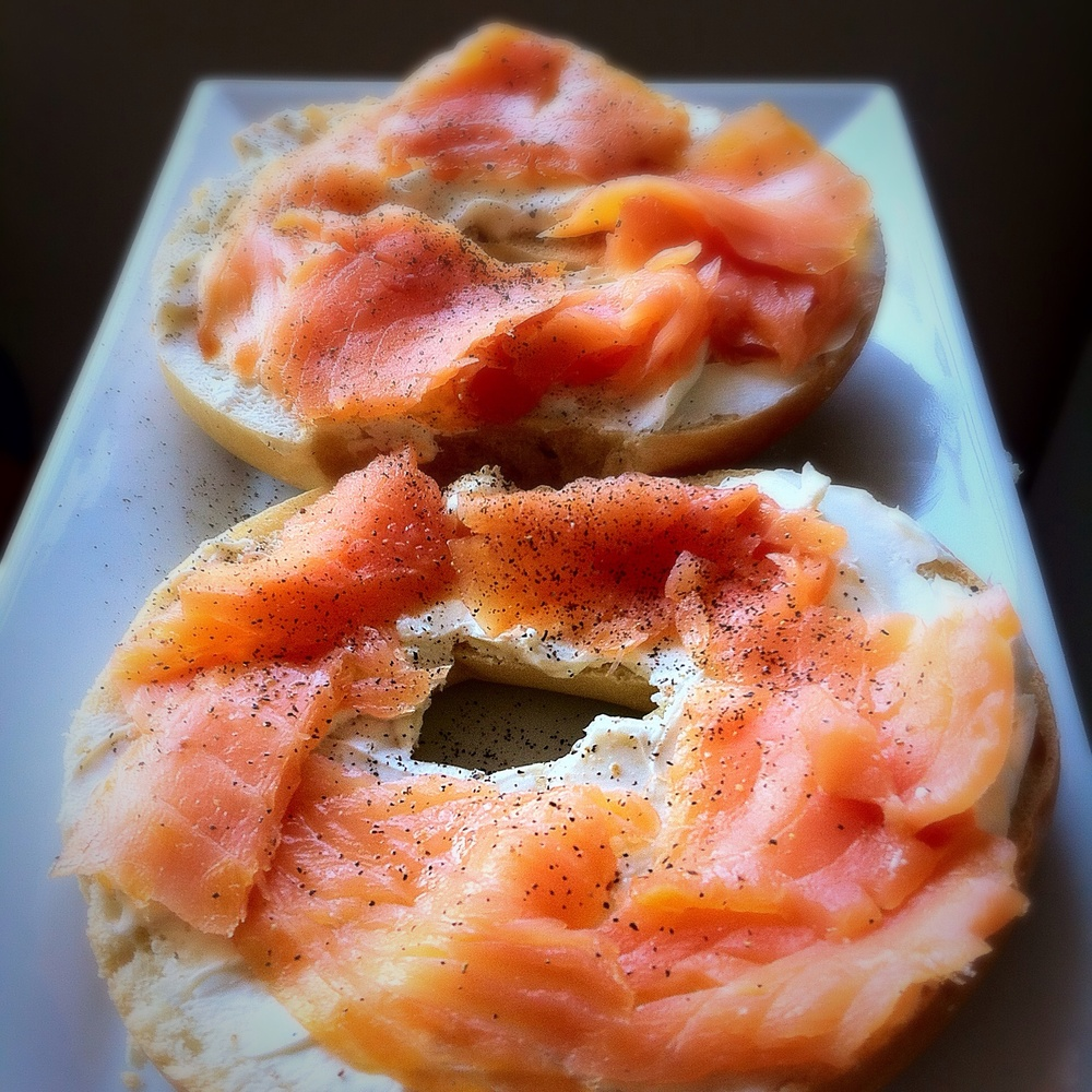 Lox Bagel for #SandwichSaturday on TOO INTO IT