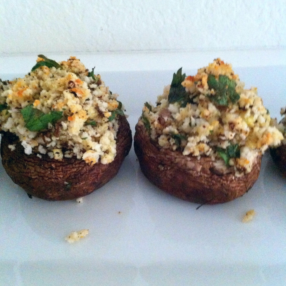 Stuffed Baby Bella Mushrooms for #tapastuesday on Too Into It