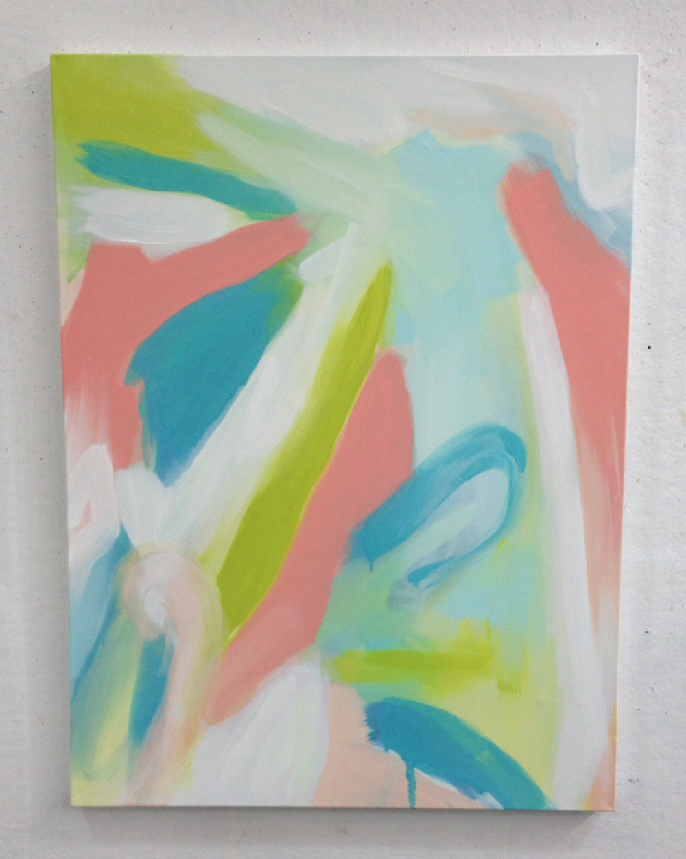 Ready for Spring , 2014, oil on canvas, 40 x 30 inches.