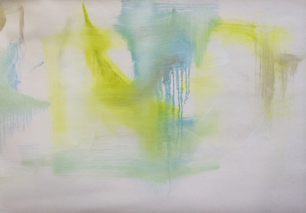 Blind painting , 2014, oil on canvas.