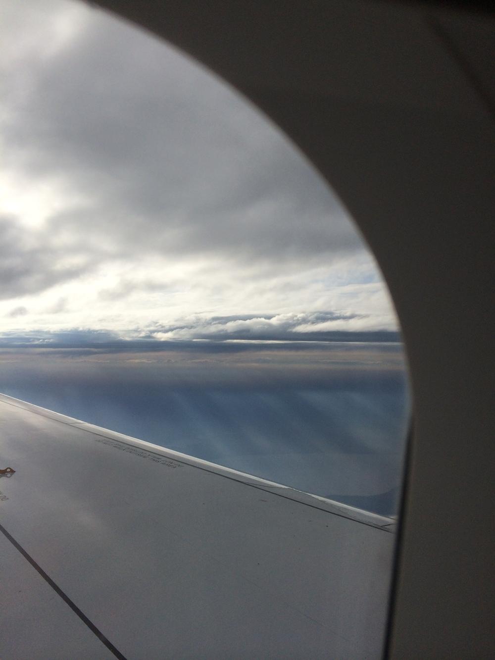 On plane over East Coast somewhere