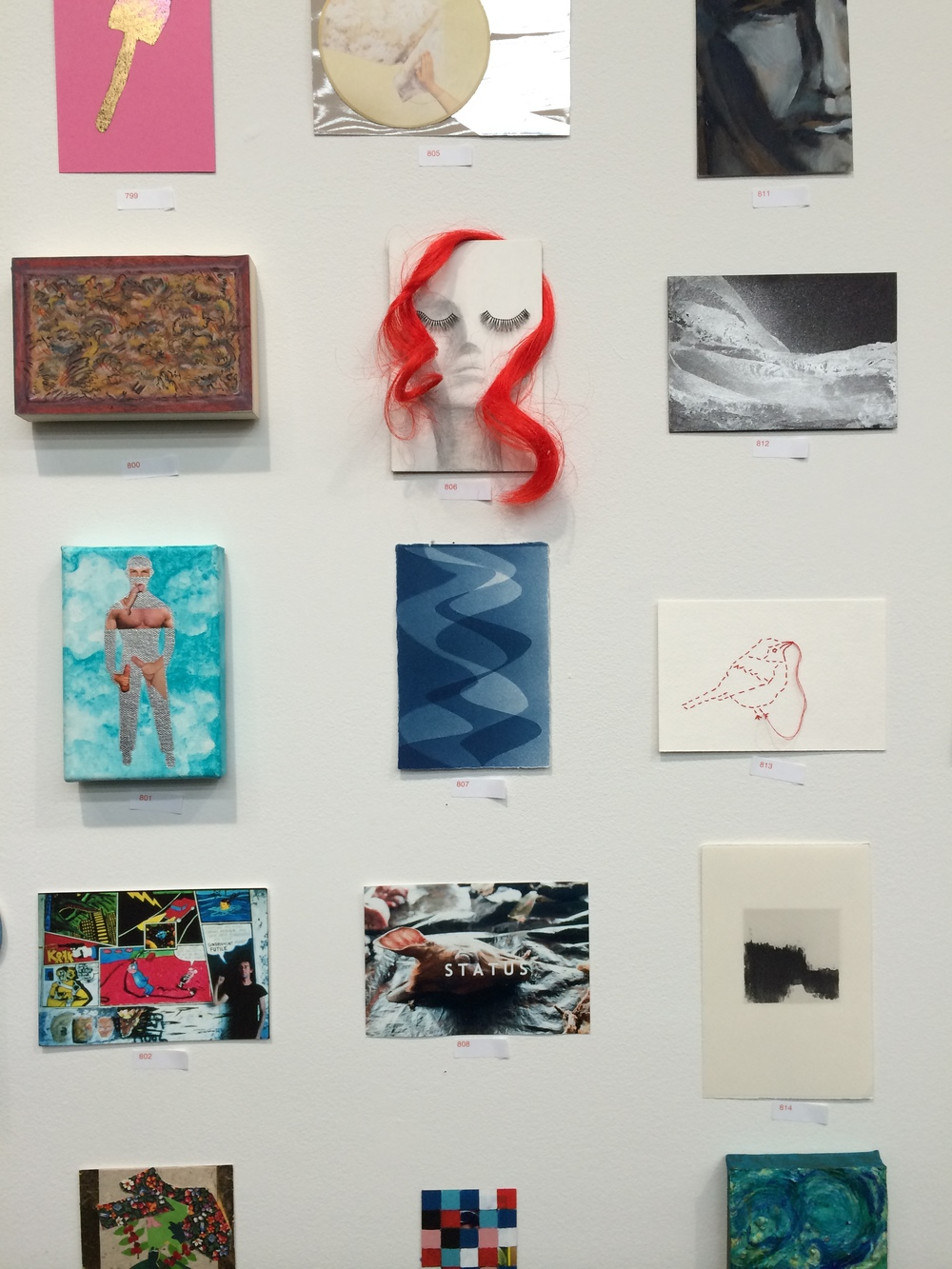 My cyanotype in Postcards from the Edge at Luhring Augustine