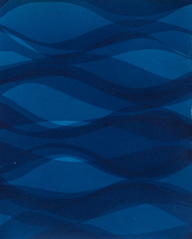 Currents A [12.12.14]  Cyanotype on Arches paper 11 x 9 inches