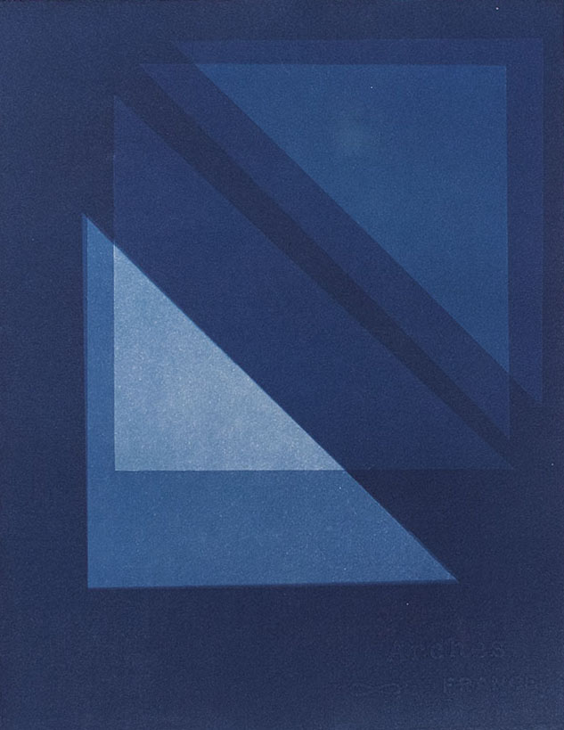 Geometric I , 2015 Cyanotype on Arches paper 13 x 10 inches