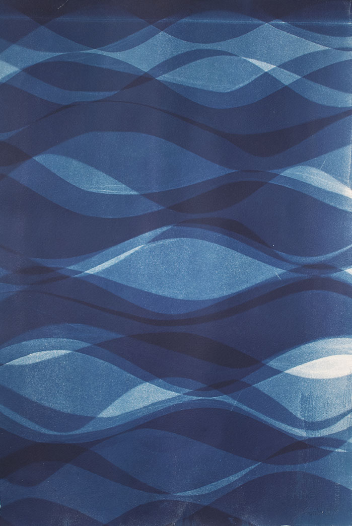 Currents [11.6.14]  Cyanotype on Arches paper 22 x 15 inches
