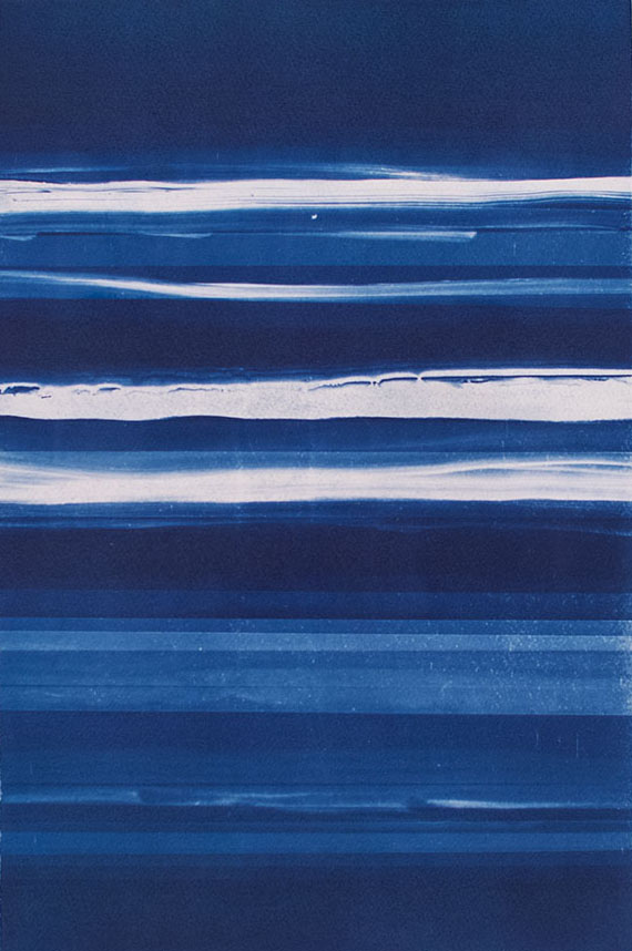 Horizons [6.24.15]  Cyanotype on Fabriano paper 15 x 10 inches
