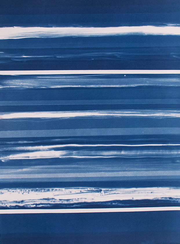 Horizons [6.24.15]  Cyanotype on Arches paper 15 x 11 inches