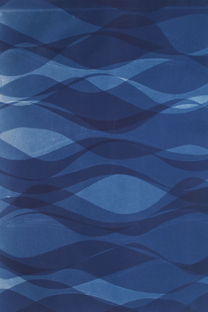 Currents [11.20.14]  Cyanotype on Arches paper 22 x 15 inches