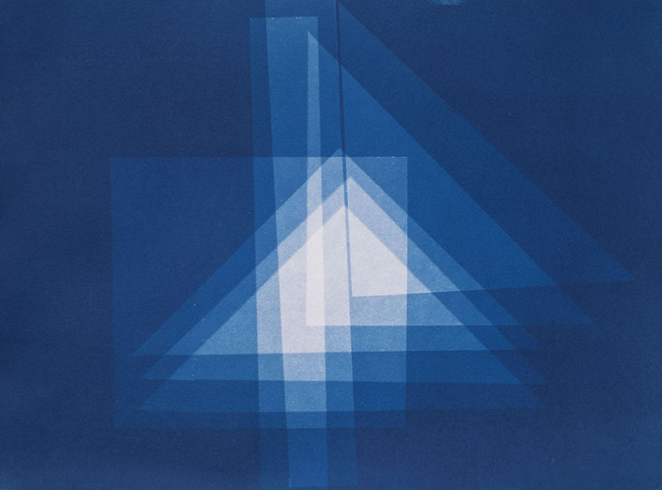 Geometric III , 2015 Cyanotype on Arches paper 13 x 10 inches