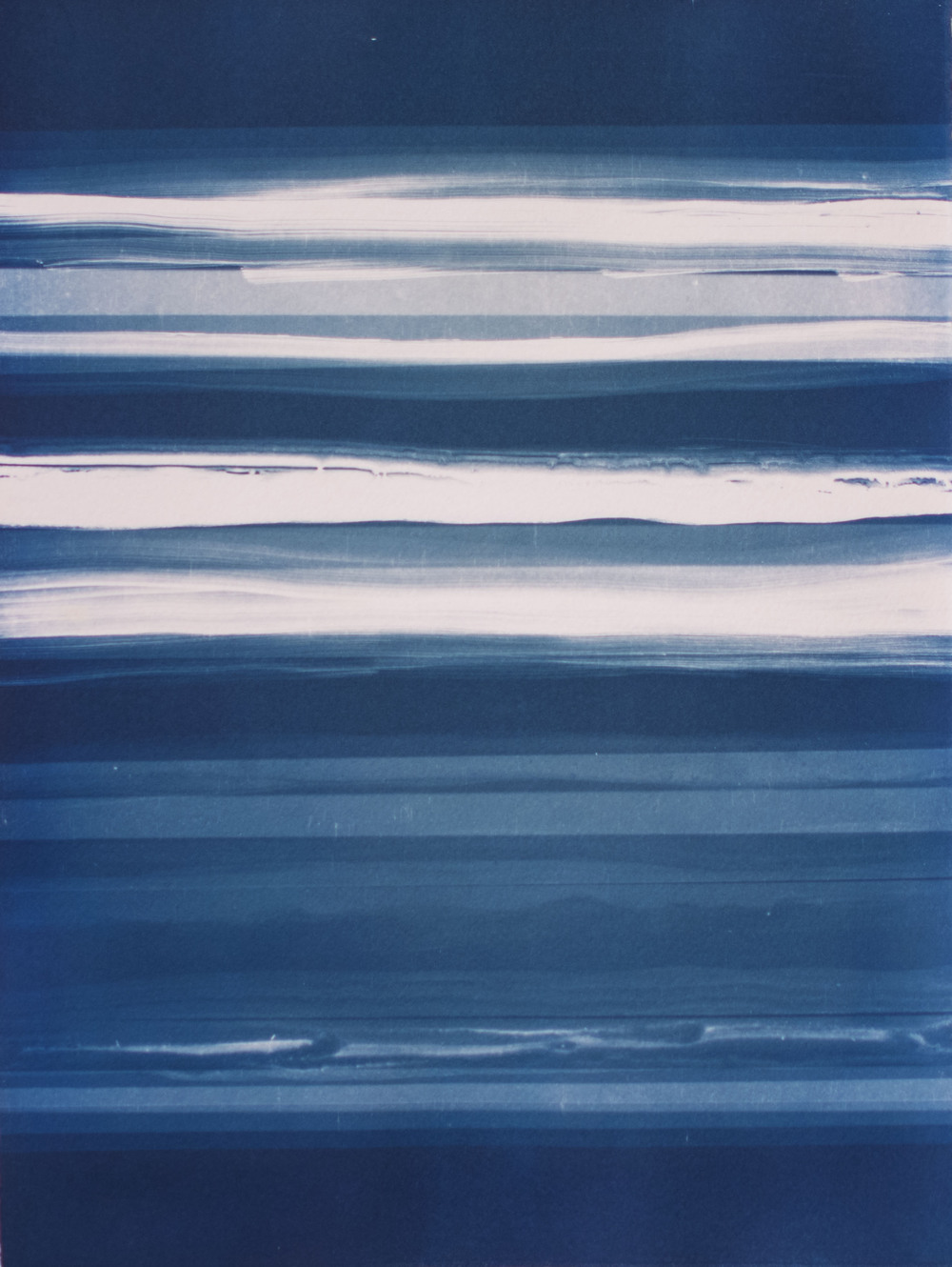 Horizons [6.10.15]  Cyanotype on Arches paper 15 x 11 inches