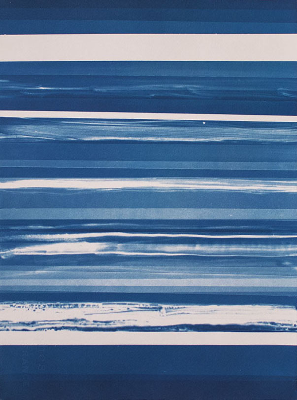 Horizons [6.17.15]  Cyanotype on Arches paper 15 x 11 inches