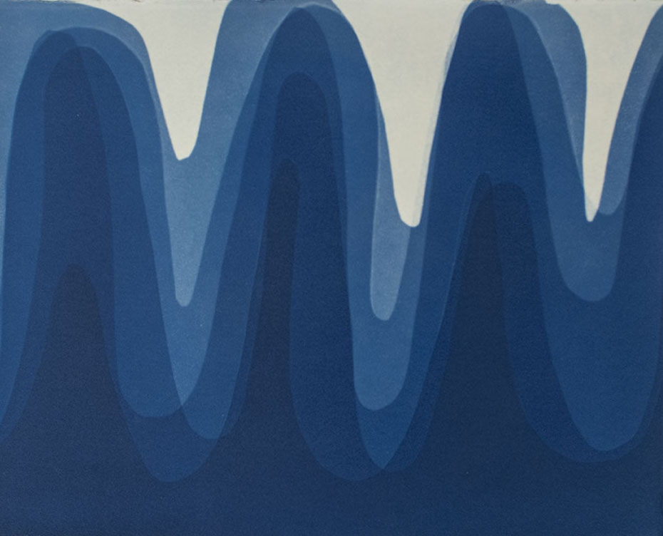 Waves II , 2014 Cyanotype on Arches paper 12 x 15 inches