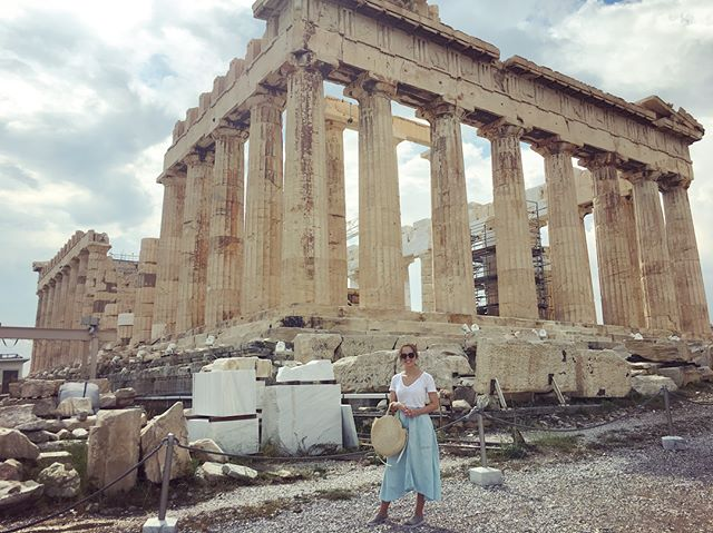 It all started a week ago in Athens with Art History 101. Whirlwind trip to Greece! So much inspiration collected...look forward to sharing more of this beautiful country once I can go through my thousands of photos! 🇬🇷 #greece #athensgreece #acropolis #parthenon #arthistory #traveler #arthistorynerd