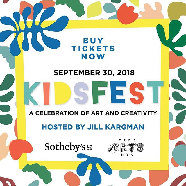 Please join me on Sunday for @freeartsnyc Kidsfest at @sothebys!  Fun activities for the whole family, plus the opportunity to get your own 20x24 Polaroid. Swipe right to see Patrick's —  😄📸 and link in bio to buy tix. #nyckids #nycfamily #kidsfest #thingstodonyc #polaroid #freeartsnyc #nycevents