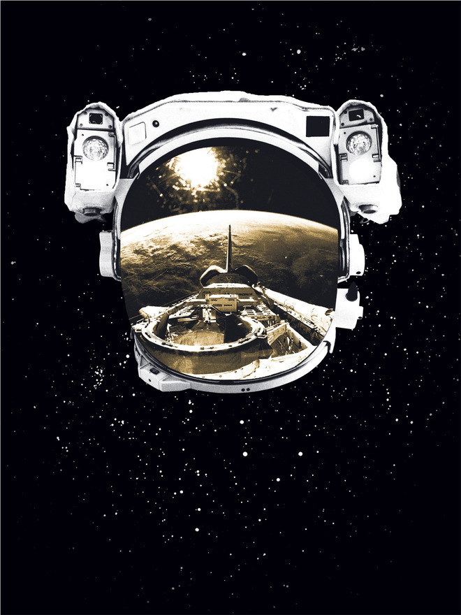 Outer space design fund poster brad vandenberg for Outer space stage design