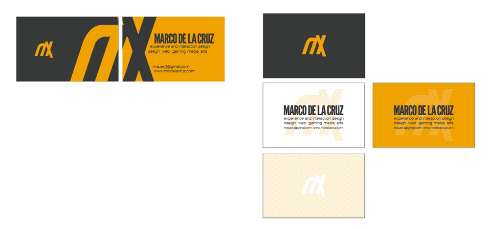 More business cards exploration.
