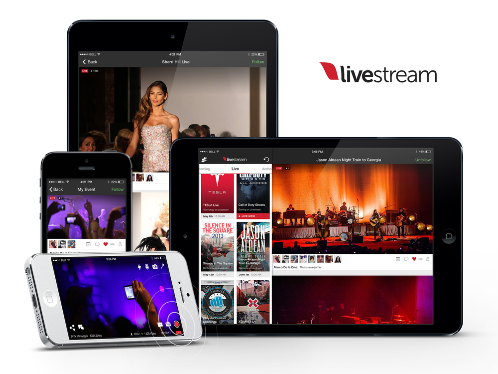 Livestream App everywhere.