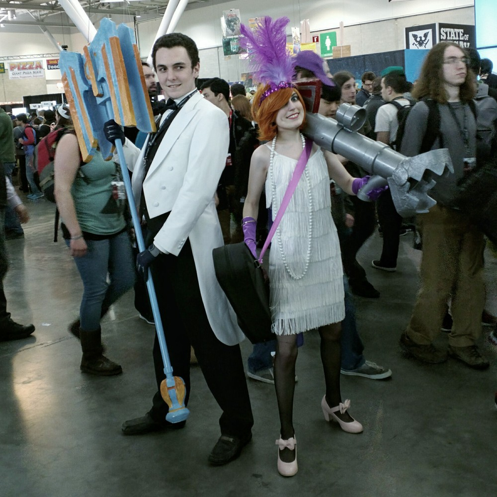 Jayce and Jinx, League of Legends.