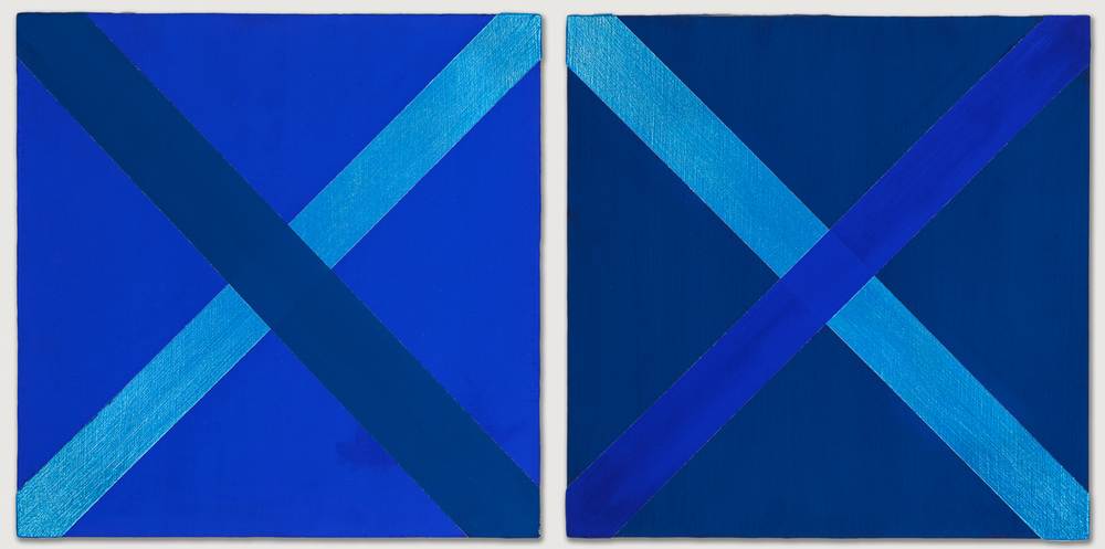 Two Blue Paintings