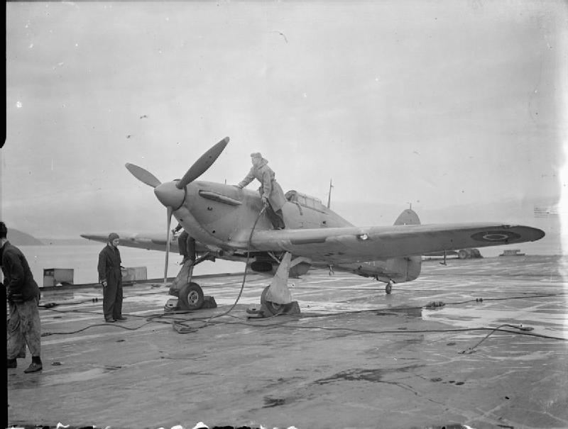 Refuelling a Sea Hurricane