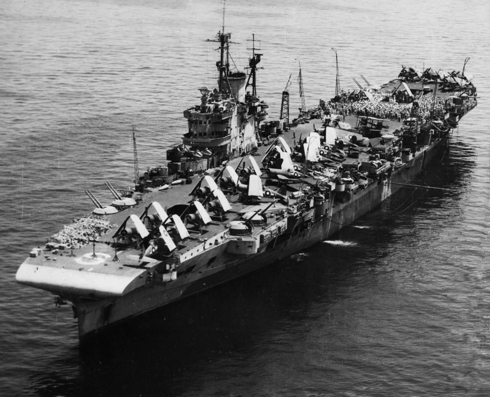 HMS VICTORIOUS at Leyte.