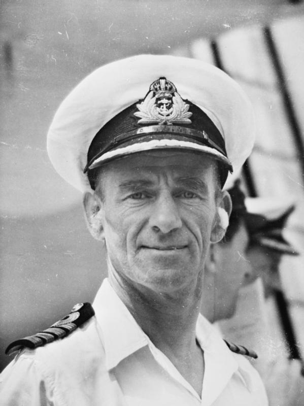 Captain of HMS Victorious during Operation Iceberg, Michael Maynard Denny.