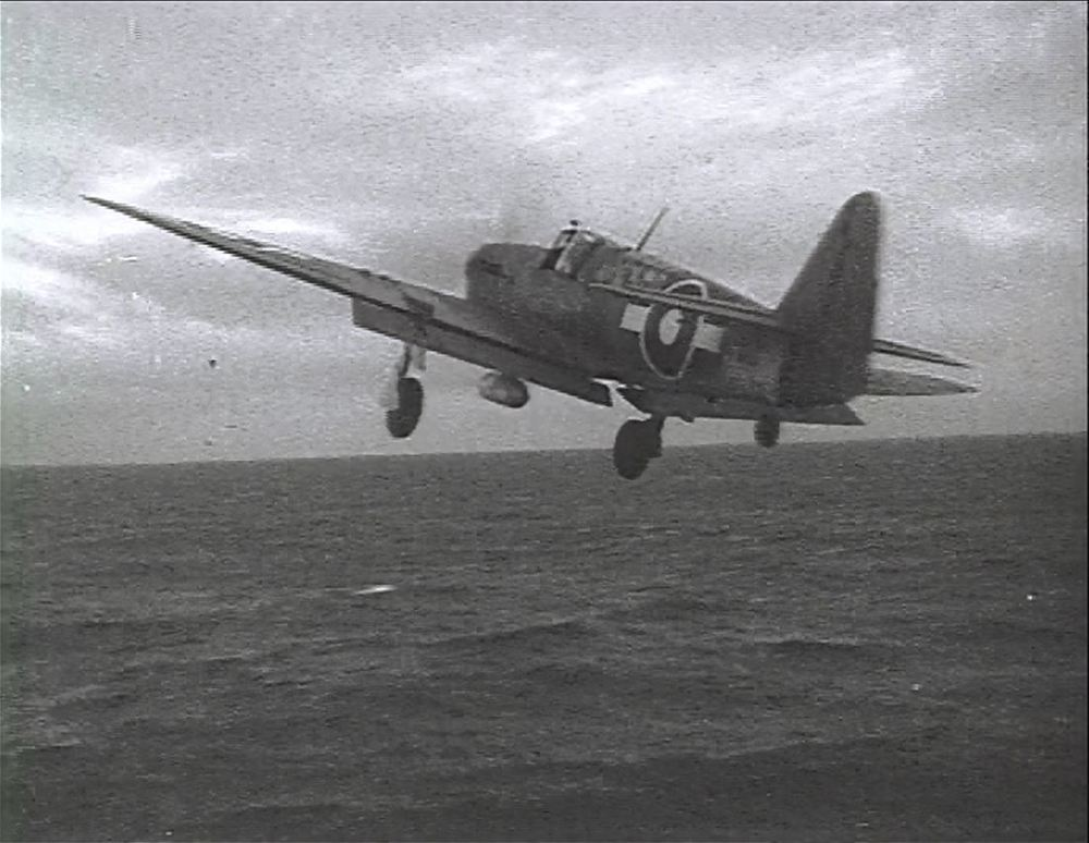A FireFly launches from an unidentified carrier.
