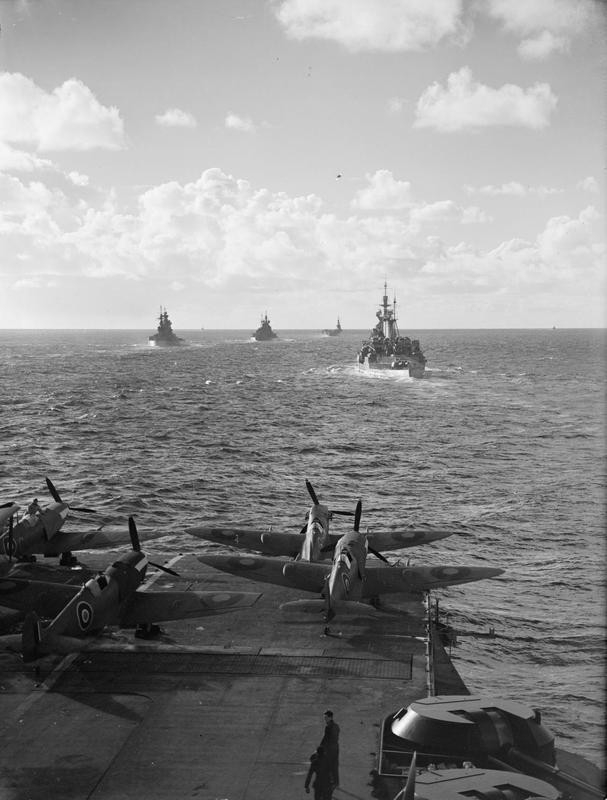 FORMIDABLE with RENOWN, NELSON, DUKE OF YORK and VICTORIOUS 6-9 November, 1942